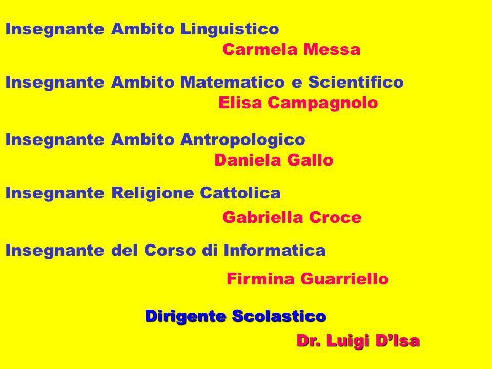 Insegnante Ambito Linguistico