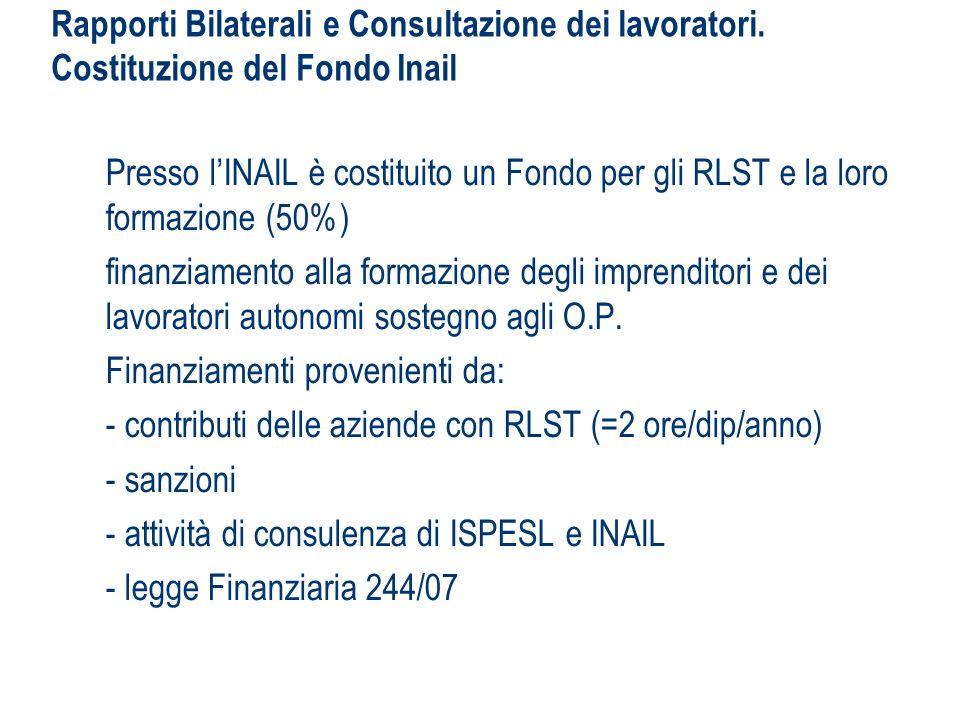 Rapporti Bilaterali e Consultazione dei lavoratori