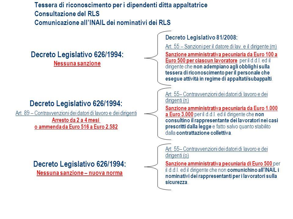 Decreto Legislativo 626/1994: