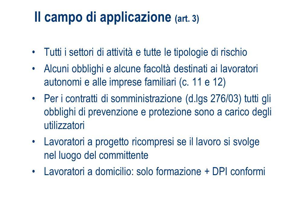 Il campo di applicazione (art. 3)