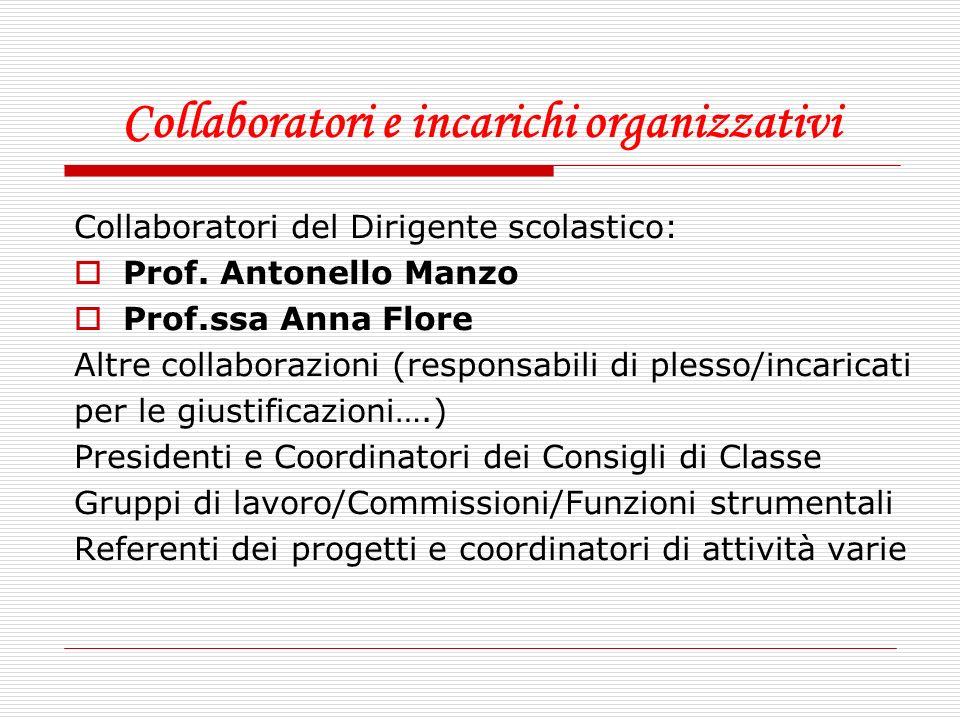 Collaboratori e incarichi organizzativi