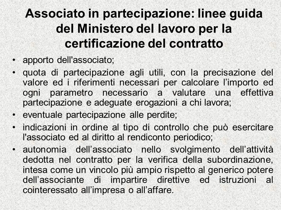 Associato in partecipazione: linee guida del Ministero del lavoro per la certificazione del contratto