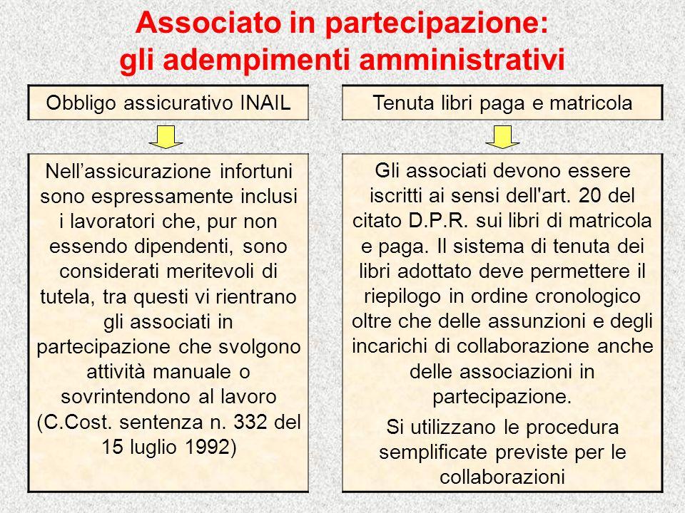 Associato in partecipazione: gli adempimenti amministrativi