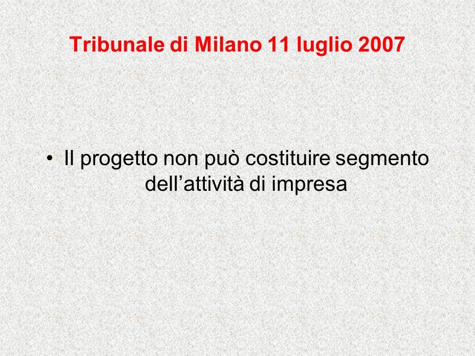 Tribunale di Milano 11 luglio 2007
