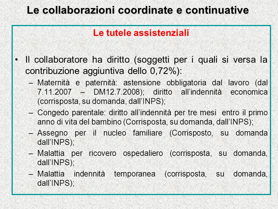 Le collaborazioni coordinate e continuative