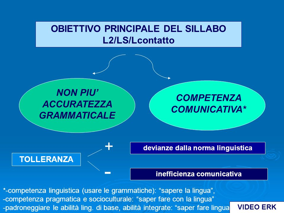 NON PIU' ACCURATEZZA GRAMMATICALE COMPETENZA COMUNICATIVA*