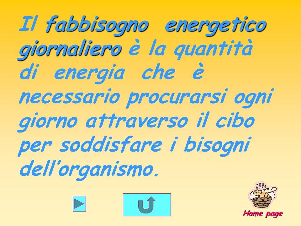Il fabbisogno energetico giornaliero è la quantità di energia che è necessario procurarsi ogni giorno attraverso il cibo per soddisfare i bisogni dell'organismo.