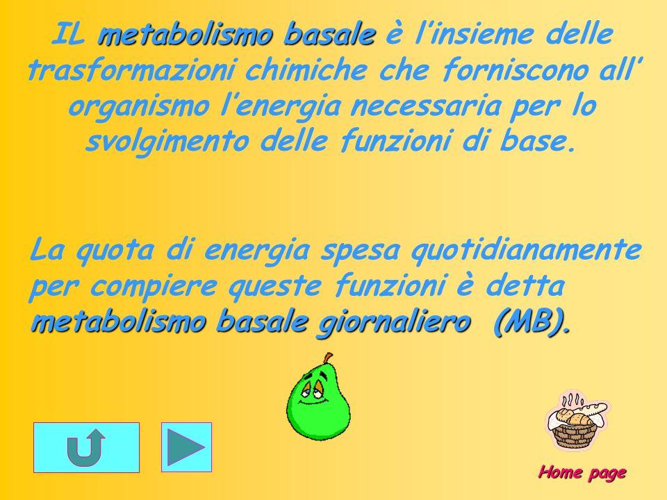 IL metabolismo basale è l'insieme delle trasformazioni chimiche che forniscono all' organismo l'energia necessaria per lo svolgimento delle funzioni di base.