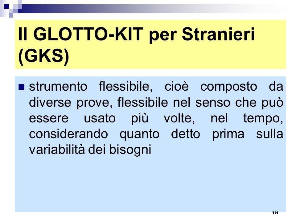 Il GLOTTO-KIT per Stranieri (GKS)