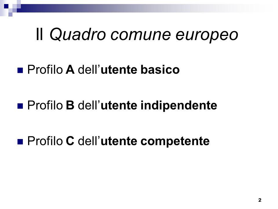 Il Quadro comune europeo