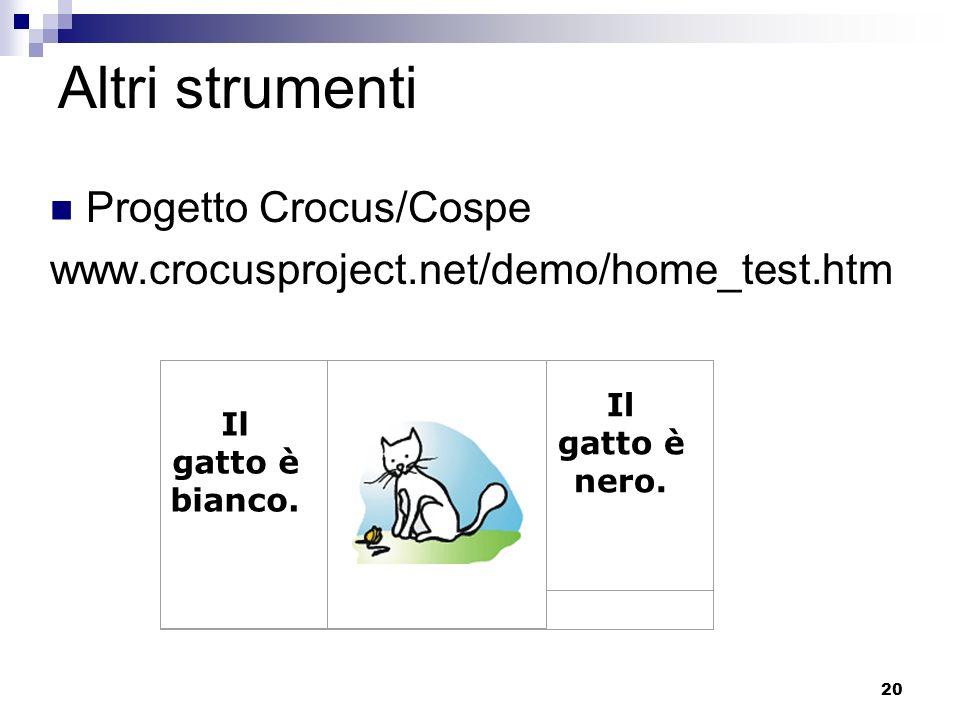 Altri strumenti Progetto Crocus/Cospe