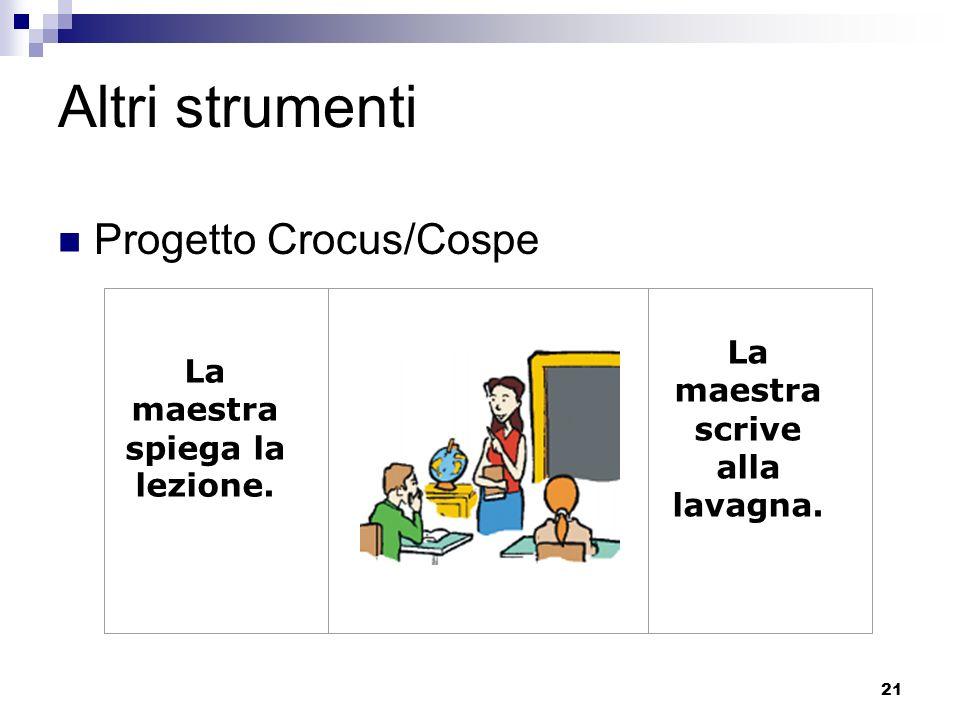 Altri strumenti Progetto Crocus/Cospe La maestra scrive alla lavagna.