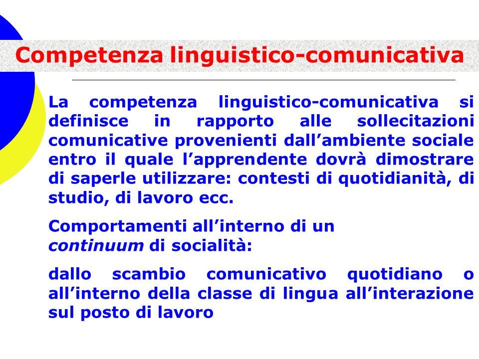 Competenza linguistico-comunicativa