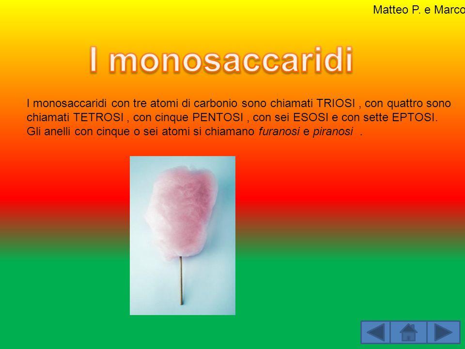 I monosaccaridi Matteo P. e Marco