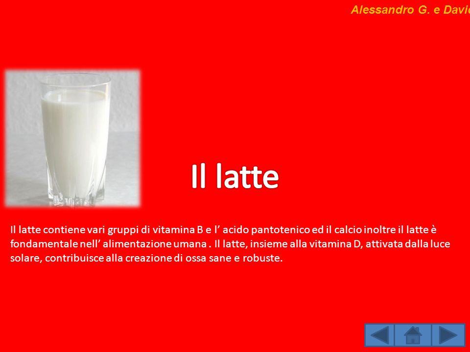 Il latte Alessandro G. e Davide