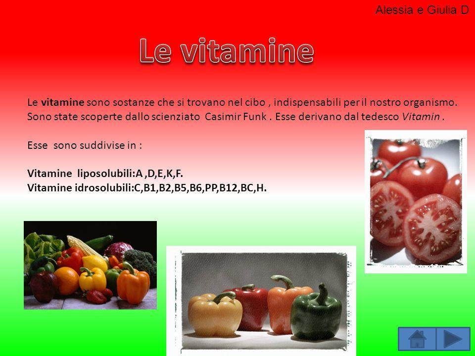 Le vitamine Alessia e Giulia D