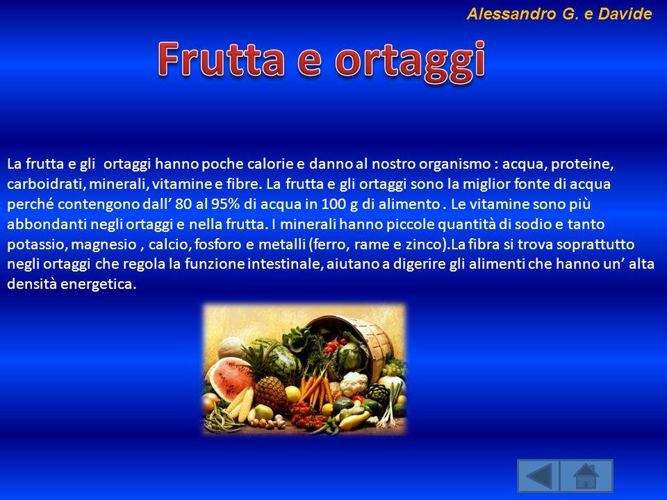 Frutta e ortaggi Alessandro G. e Davide