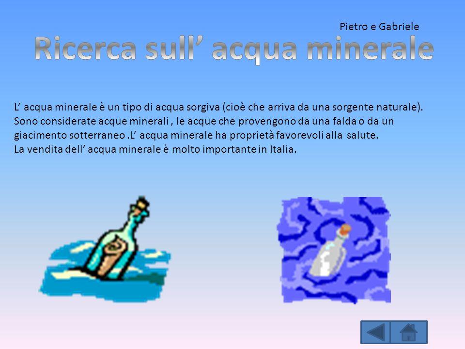 Ricerca sull' acqua minerale