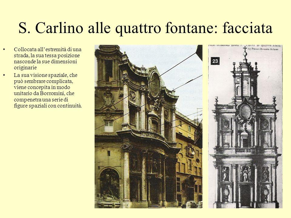 S. Carlino alle quattro fontane: facciata