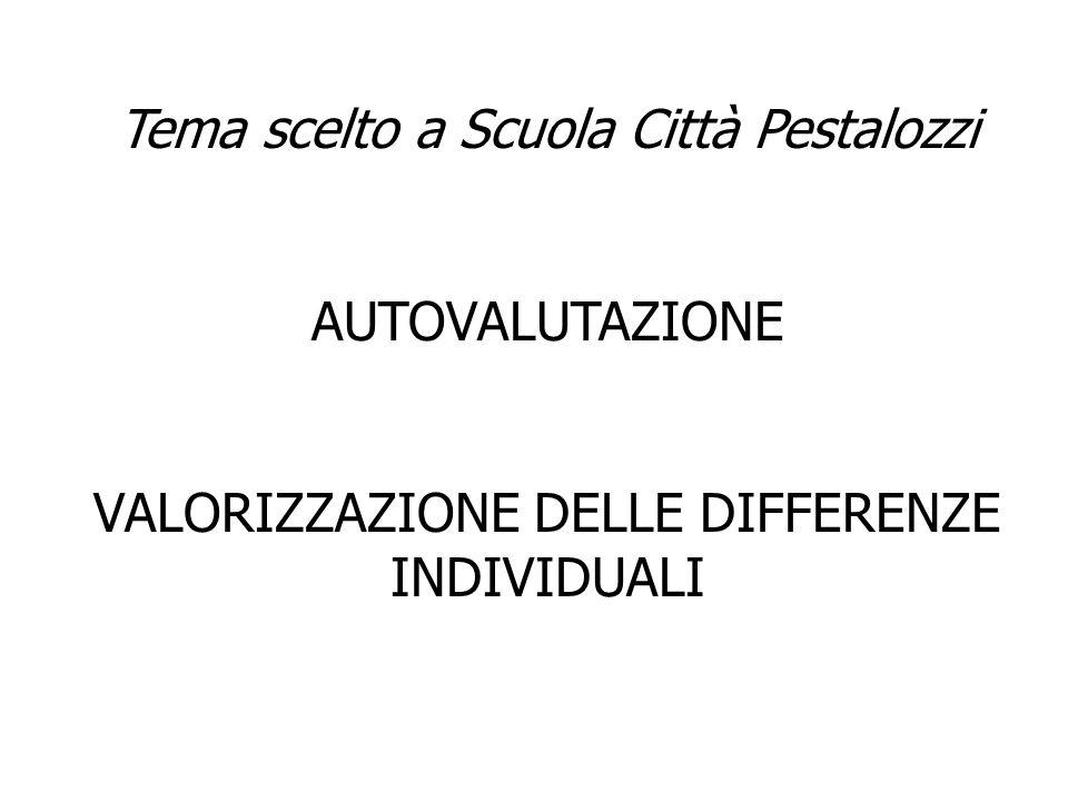 Tema scelto a Scuola Città Pestalozzi