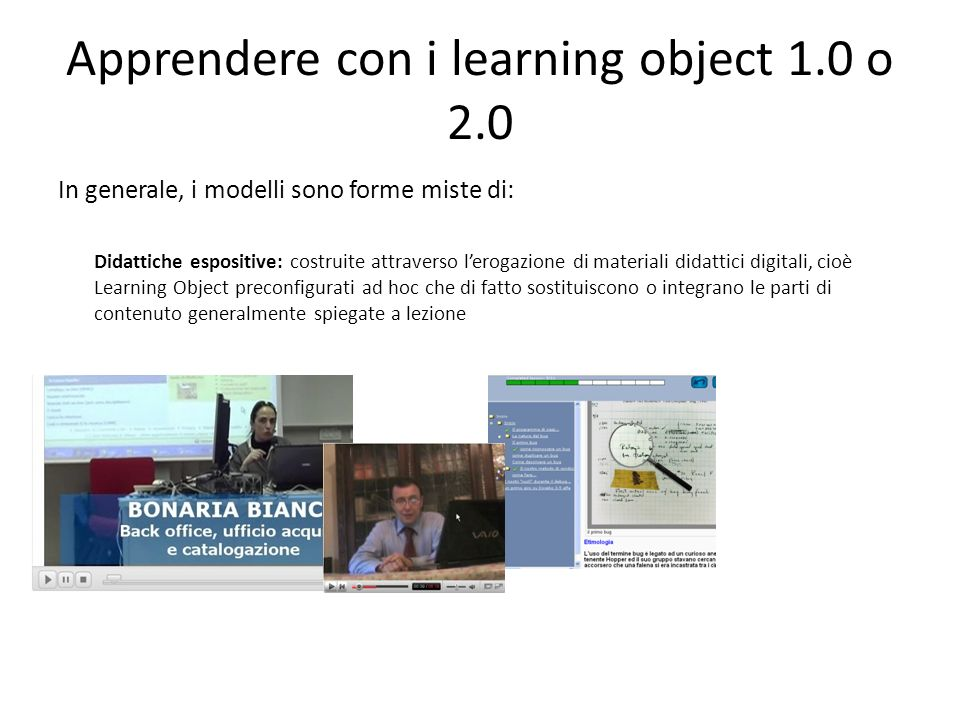 Apprendere con i learning object 1.0 o 2.0