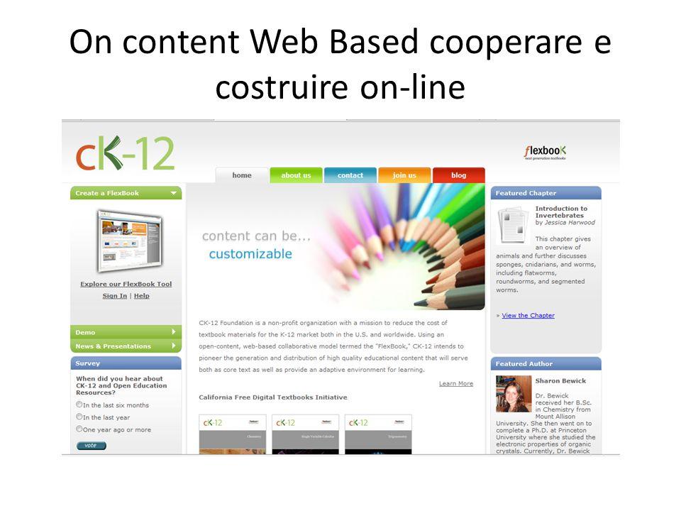 On content Web Based cooperare e costruire on-line