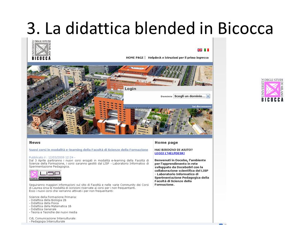 3. La didattica blended in Bicocca
