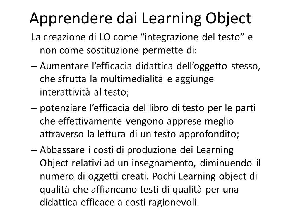 Apprendere dai Learning Object