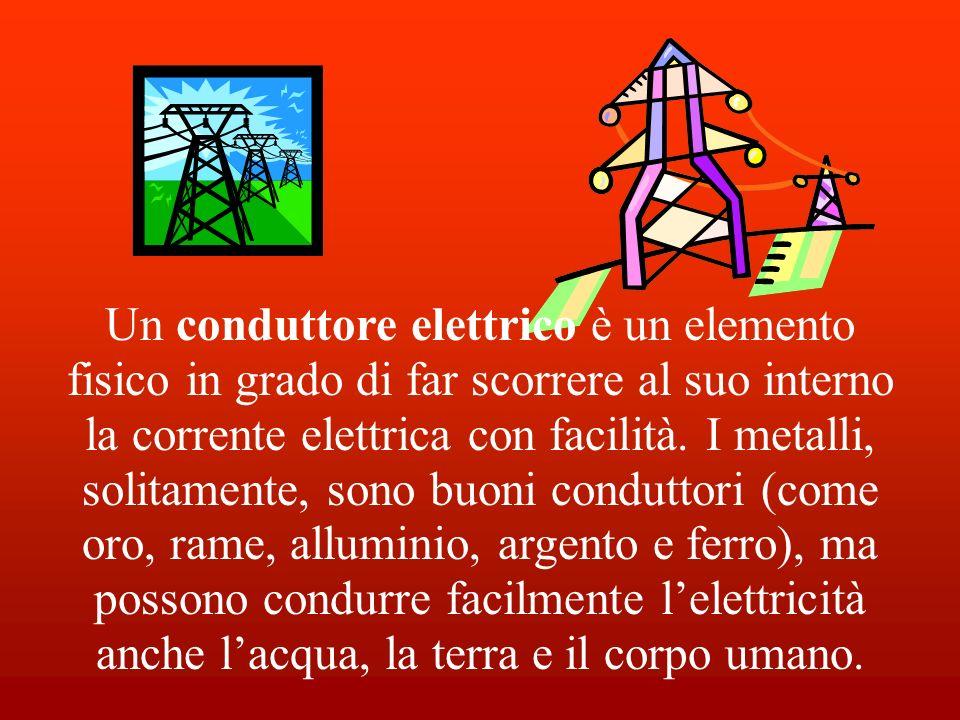 Un conduttore elettrico è un elemento fisico in grado di far scorrere al suo interno la corrente elettrica con facilità.