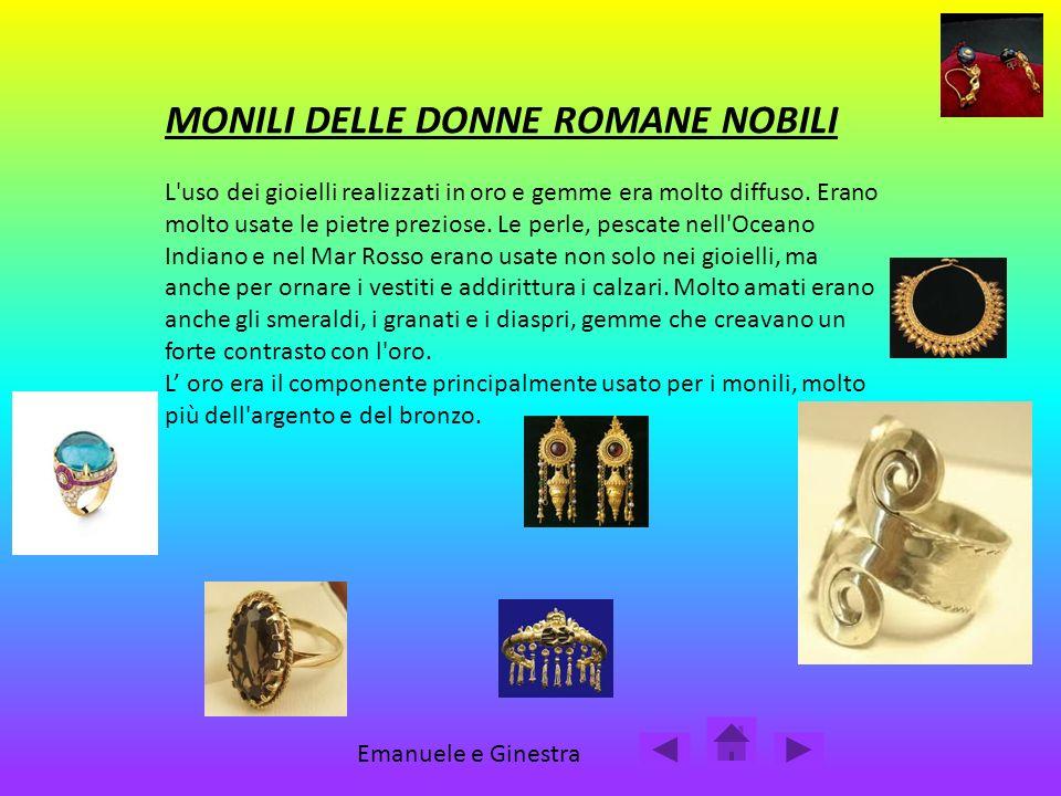 MONILI DELLE DONNE ROMANE NOBILI