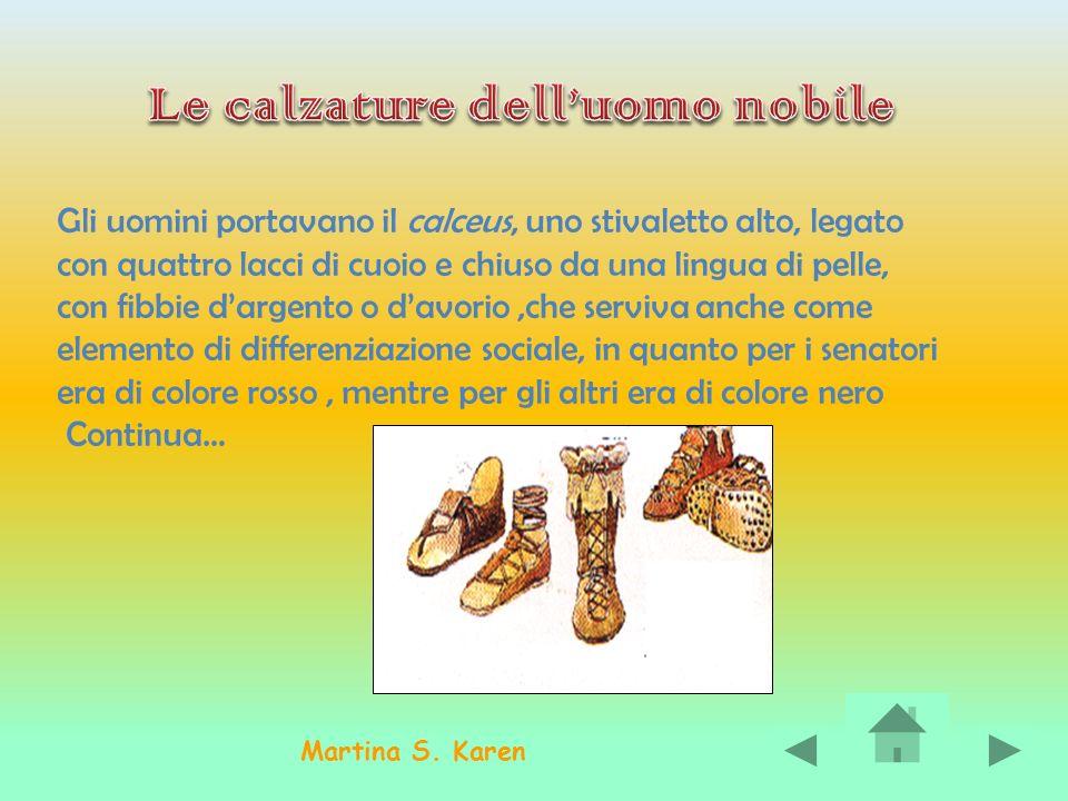 Le calzature dell'uomo nobile