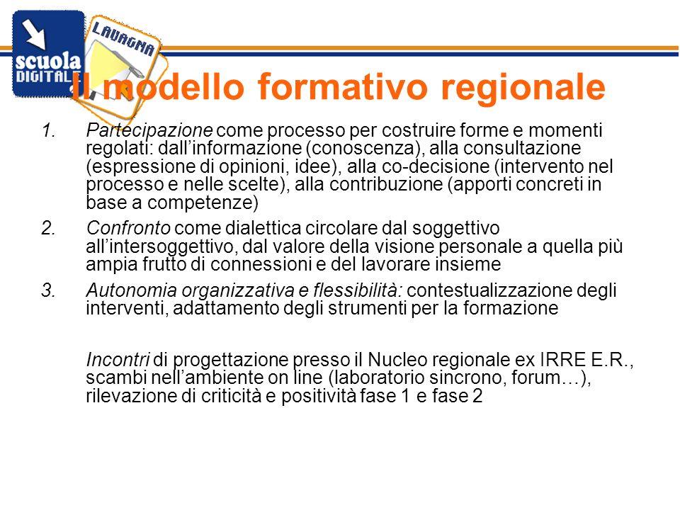 Il modello formativo regionale