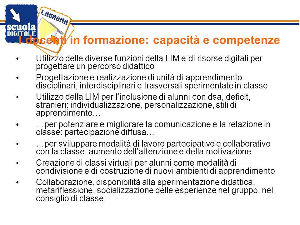 I docenti in formazione: capacità e competenze