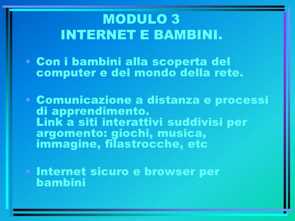 MODULO 3 INTERNET E BAMBINI.