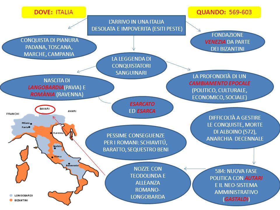 DOVE: ITALIA QUANDO: 569-603 L'ARRIVO IN UNA ITALIA