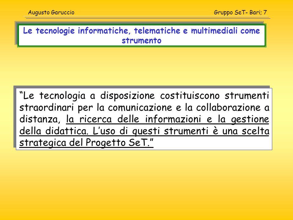 Le tecnologie informatiche, telematiche e multimediali come strumento