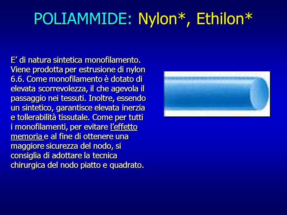 POLIAMMIDE: Nylon*, Ethilon*