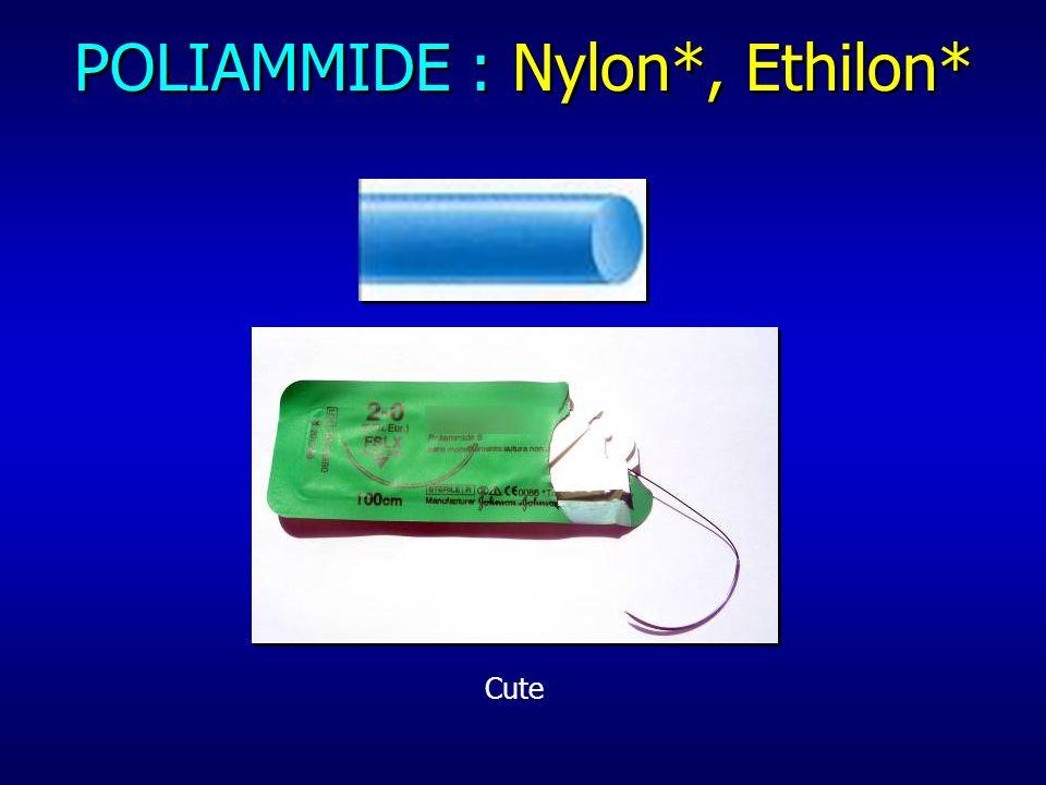 POLIAMMIDE : Nylon*, Ethilon*