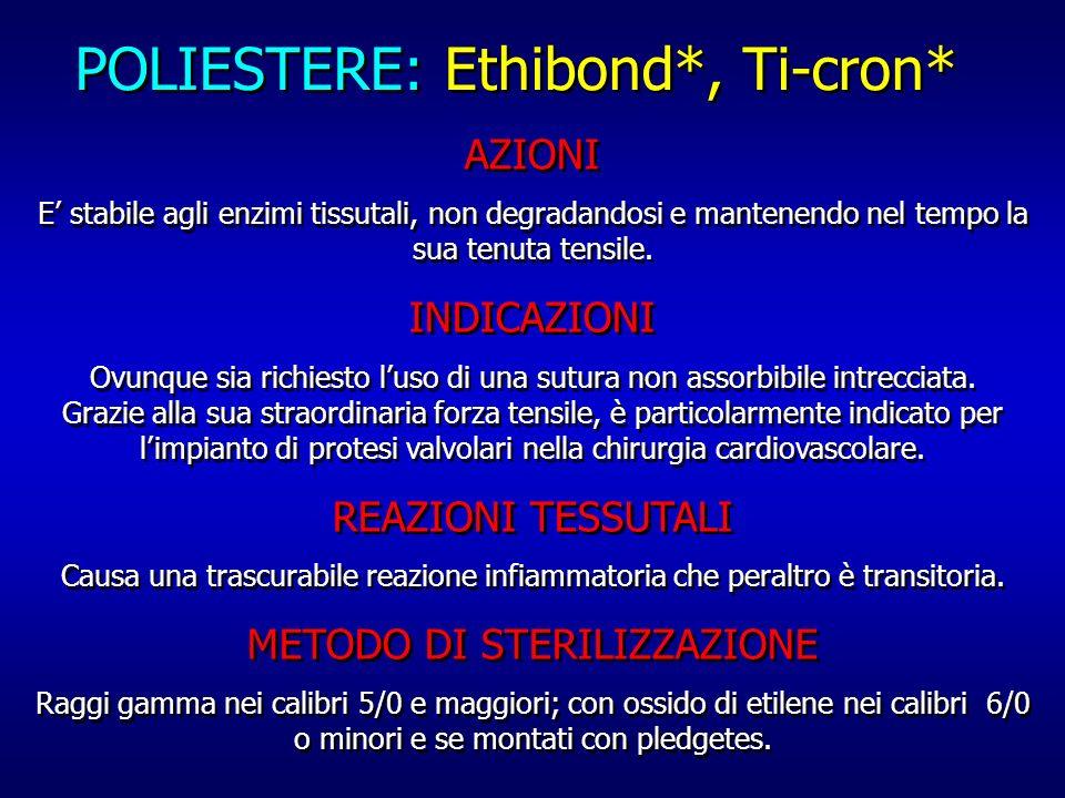 POLIESTERE: Ethibond*, Ti-cron*