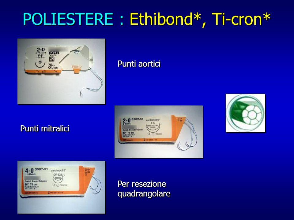 POLIESTERE : Ethibond*, Ti-cron*