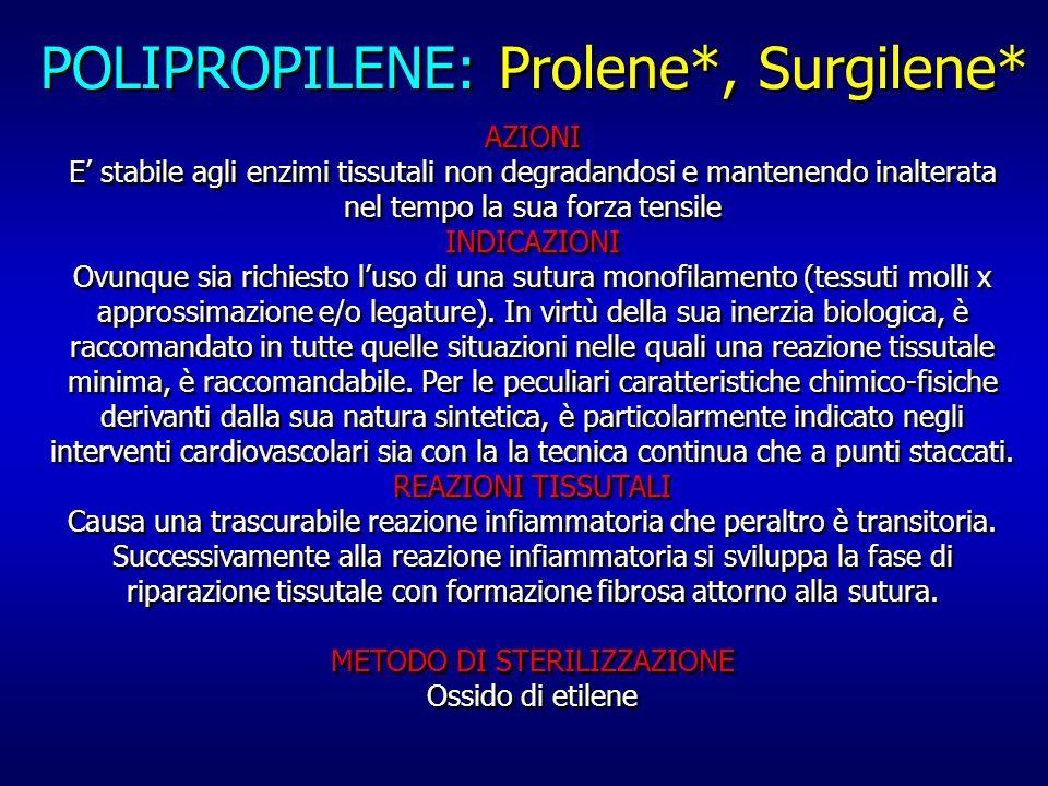 POLIPROPILENE: Prolene*, Surgilene*