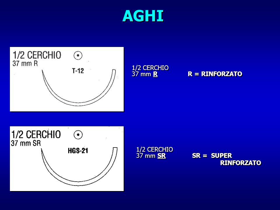 AGHI 1/2 CERCHIO 37 mm R R = RINFORZATO 1/2 CERCHIO