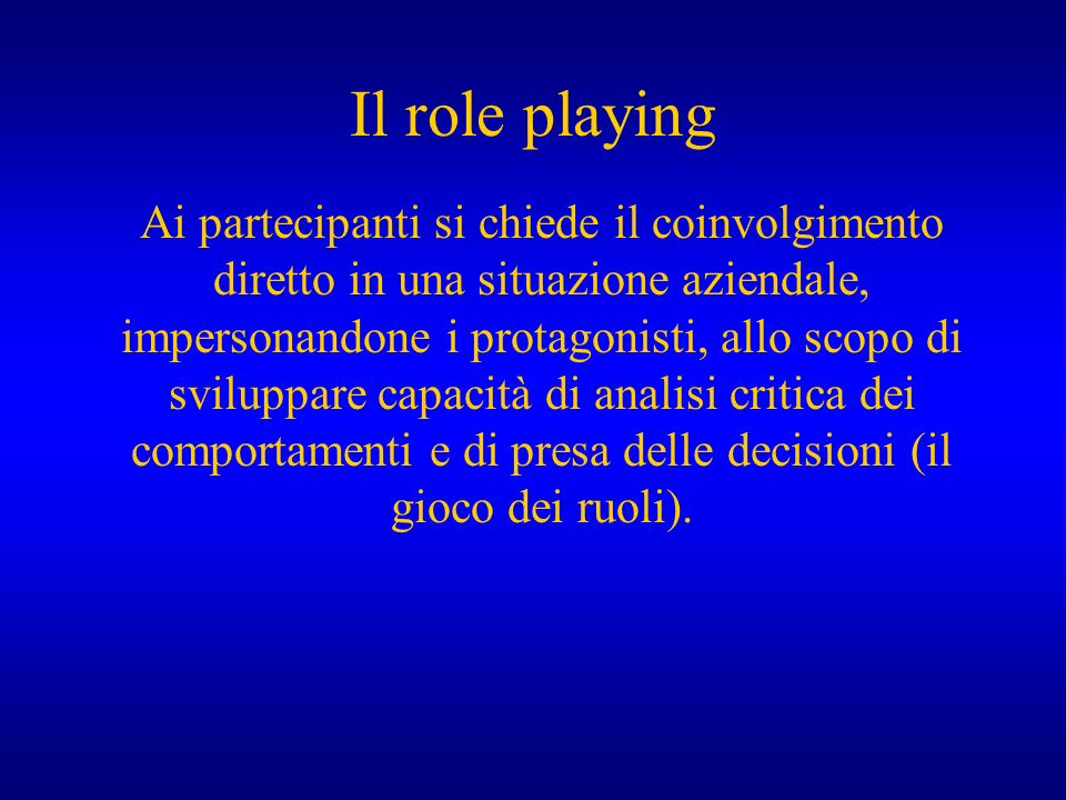 Il role playing
