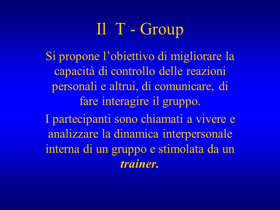 Il T - Group