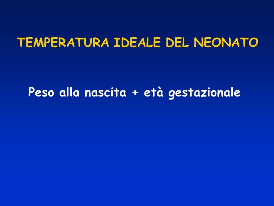TEMPERATURA IDEALE DEL NEONATO