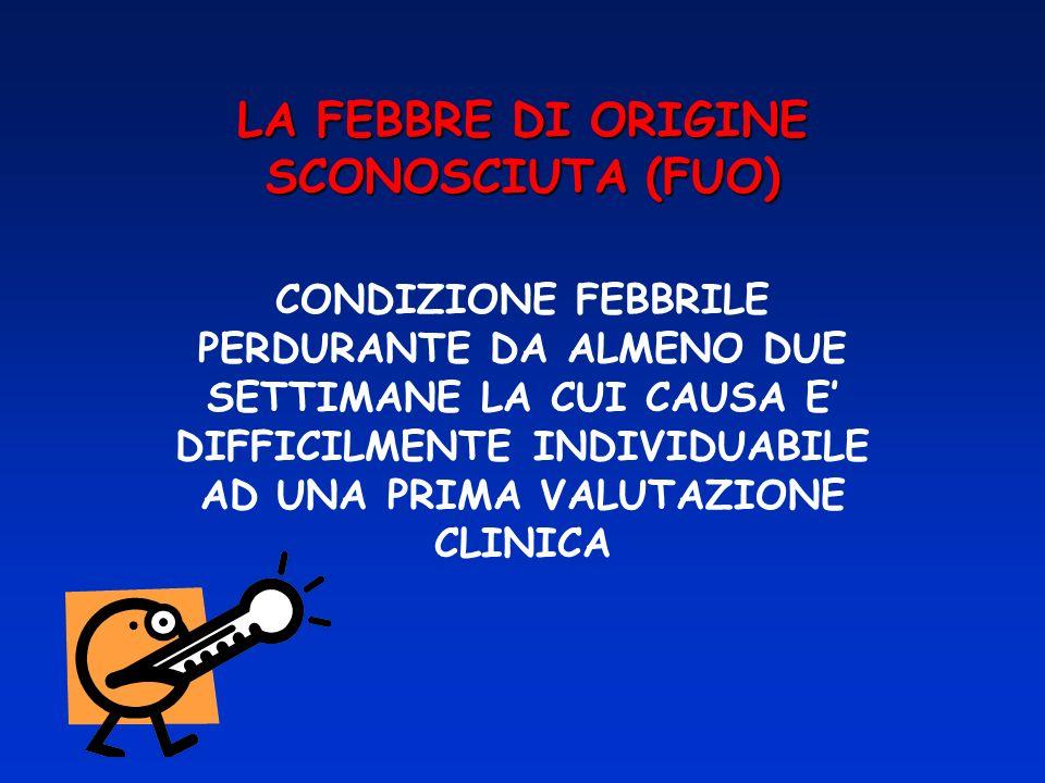 LA FEBBRE DI ORIGINE SCONOSCIUTA (FUO)