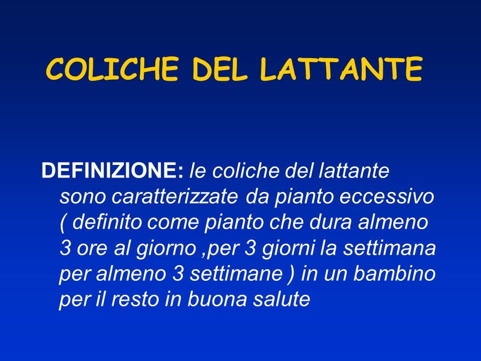 COLICHE DEL LATTANTE