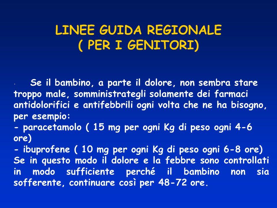 LINEE GUIDA REGIONALE ( PER I GENITORI)