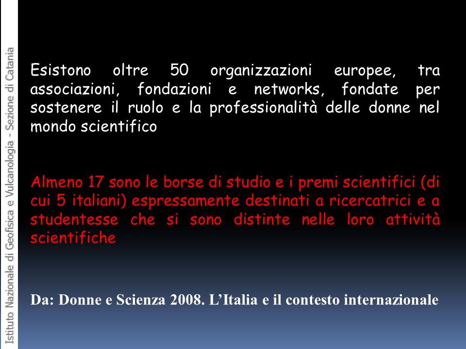 Da: Donne e Scienza 2008. L'Italia e il contesto internazionale