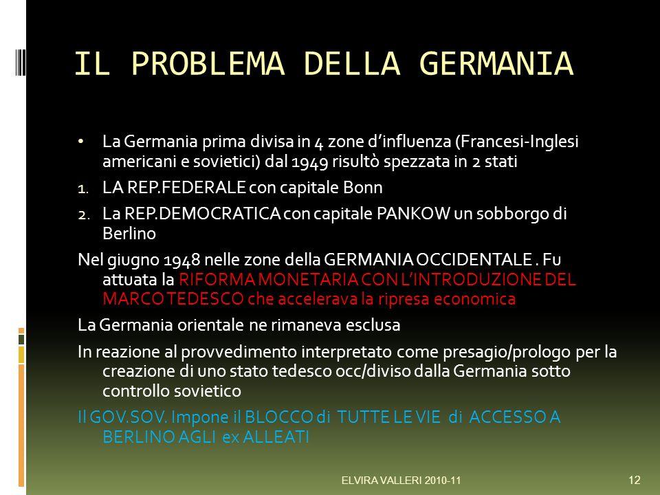 IL PROBLEMA DELLA GERMANIA
